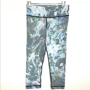 Vimmia S Cropped Leggings Green Gray Pink Yoga